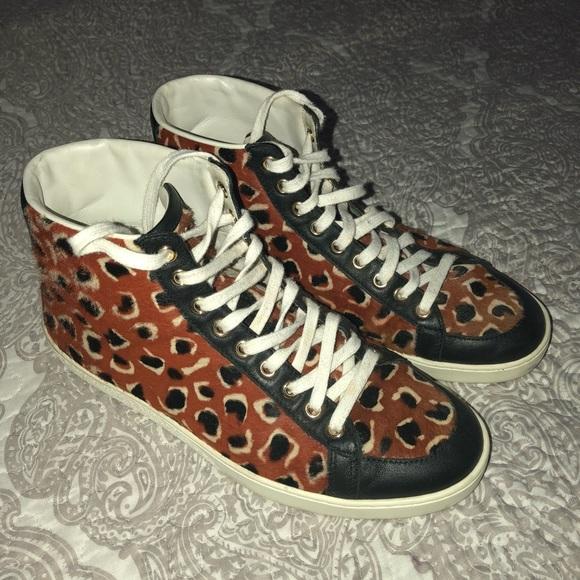 c24a062d8ea0 Gucci Shoes - GUCCI Calf Hair Leopard Print Brooklyn Leo 7.5